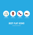 Flat icon dress set of clothes male footware vector image