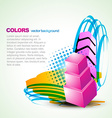 artistic colorful background vector image