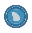 Label with map of georgia Denim style vector image