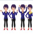 Present Character Cartoon Woman Worker vector image