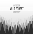 Wild coniferous forest background vector image