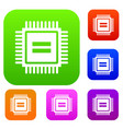Electronic circuit board set collection vector image