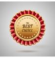 gold metal badge vector image