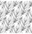 Large black fluffy feathers pattern with dots vector image