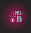 Lounge bar logo template vector image