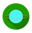 Uranus icon in flat style isolated on white vector image