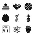 useful icons set simple style vector image