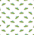 Flying saucer seamless pattern vector image