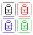 drugs sign icon pack with pills symbol medicine vector image