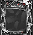 Vintage Blackboard for Valentine s Menu vector image