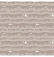 Seamless pattern of bands with sprouts vector image