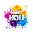 Holi spring festival of colors design element and vector image