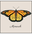 Monarch butterfly card Flat vector image