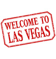 Las Vegas - welcome red vintage isolated label vector image