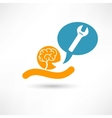 Brain and wrench vector image