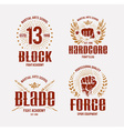 Fight Club Emblems vector image
