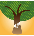 Human Hug tree for nature vector image