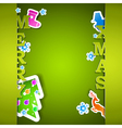 Merry Xmas card with flakes vector image