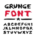 Painted Grunge Font vector image