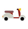 scooter isolated transport icon on white vector image