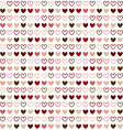Seamless pattern design with red heart color vector image