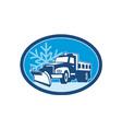 Snow Plow Truck Retro vector image
