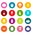 vegetables icons many colors set vector image