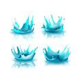 abstract water drop splash isolate vector image