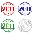 2011 stamp vector image