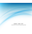 blue curve abstract background vector image