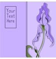 Card with a hand drawn purple iris vector image