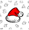 christmas hat pattern vector image