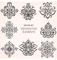 Decorative ethnic elements set vector image
