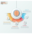 education concept - brain and science vector image