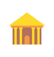 greek temple isolated palace with columns ancient vector image
