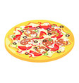 isometric icon of italian pizza vector image