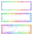 Multicolored sketch banner frame design set vector image