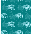 seamless pattern made of Nautilus Pompilius vector image