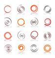 spiral design elements vector image