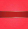 Valentines Day red Ribbon on pink Background vector image
