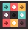 Beautiful pure arrow sign icon set vector image