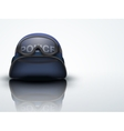 Light Background Blue Police helmets and mask vector image