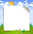 landscape with paper sheet vector image vector image