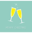 Champagne glasses with sparkles Greeting Card vector image