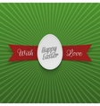 Realistic Easter paper Egg on red Ribbon vector image