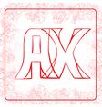 AX monogram vector image