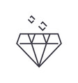 diamond line icon sign on vector image
