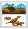 Dinosaurs Horizontal Banners vector image