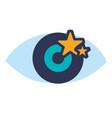 human eye symbol vector image