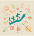 leadership concept business vector image